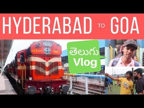 Hyderabad To Goa Train Journey | Telugu Travel Vlogs.