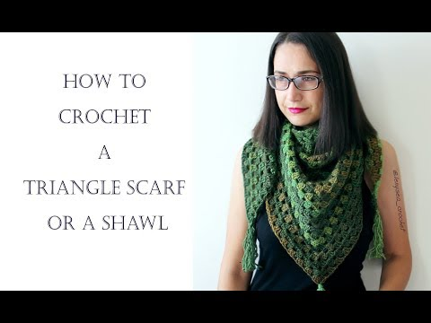 How To Crochet for Beginners | Shawl or Triangle Scarf