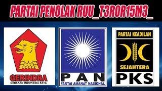Biadab! Ternyata Gerindra, PKS dan PAN Menolak Revisi UU T3R0R15M3_?