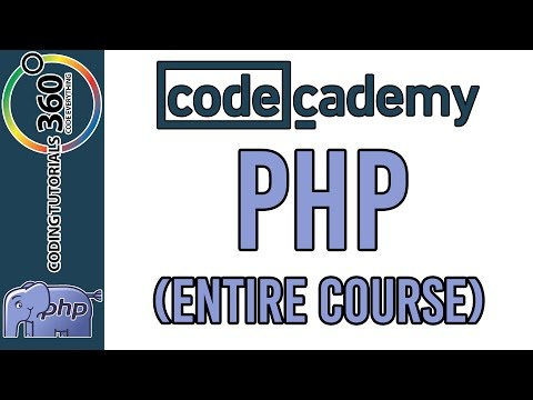 PHP CodeCademy: Entire Course