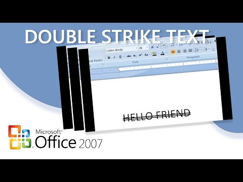 Microsoft Word-How To Double-strike Through Your Text