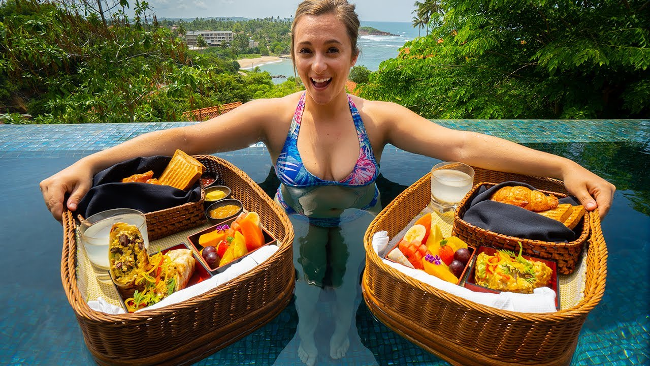 5 Star SRI LANKAN FOOD at Cape Weligama : MOST EXPENSIVE Hotel in Sri Lanka (OVER $1000/DAY)