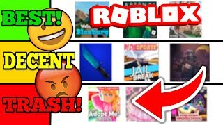 RATING ROBLOX GAMES! (TIER-LISTE)
