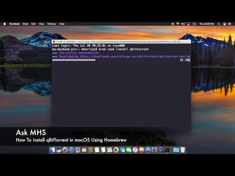 How To Install qBitTorrent in macOS Using Homebrew - YouTube