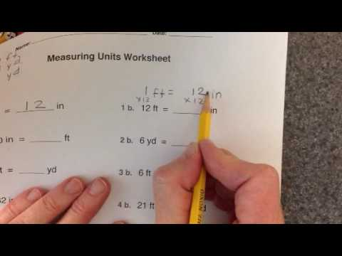 measuring units worksheet youtube. Black Bedroom Furniture Sets. Home Design Ideas