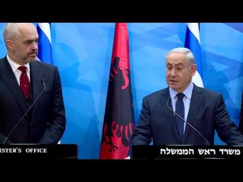 PM Benjamin Netanyahu Meets Albanian PM Edi Rama