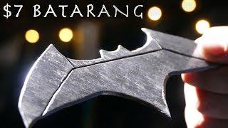 How To Make a $7 BATARANG From Justice League!!! (Real Working Batarang)