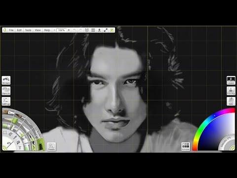 Menggambar wajah Nicholas Saputra: Drawing AADC 2
