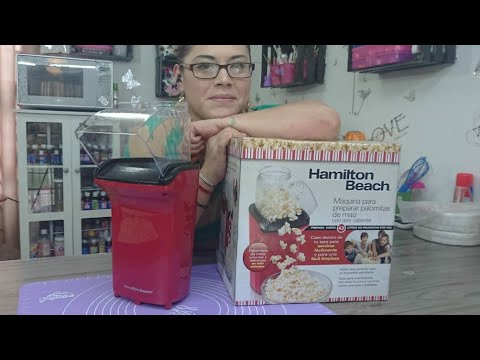 Palomitas con aire caliente (sin aceite) Hamilton beach unboxing y review