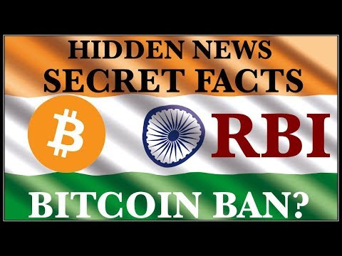 RBI INDIA CRYPTOCURRENCY BITCOIN BAN LATEST NEWS SECRET FACTS