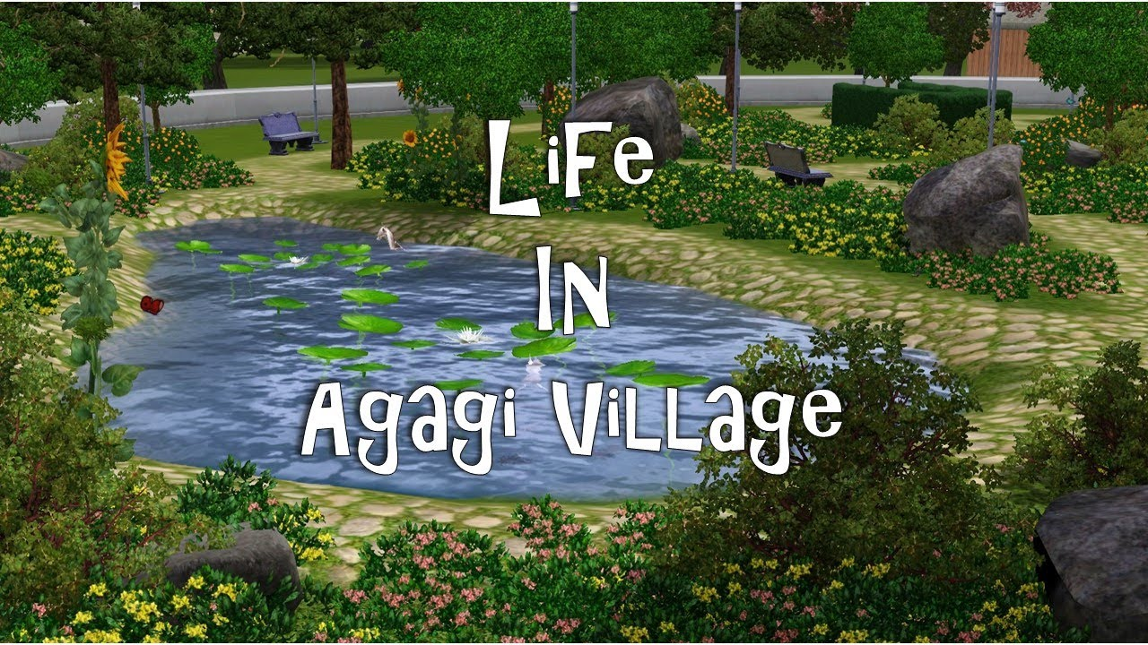The sims 3 custom world agagi village lifestyle trailer for Schaukelstuhl sims 3