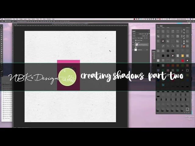 4 different ways to add Shadows on your Scrapbooking Elements PART TWO