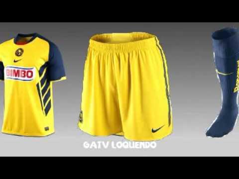 Nuevo uniforme del club am rica 2010 2011 youtube for Cuarto uniforme del america
