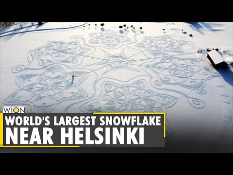 Finland Snow Art: Locals create giant snow artwork on the golf course | World News | English News