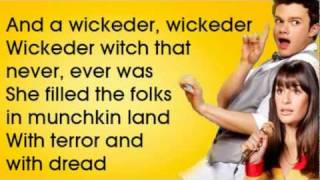 GLEE - Ding Dong The Witch Is Dead (lyrics) - HD