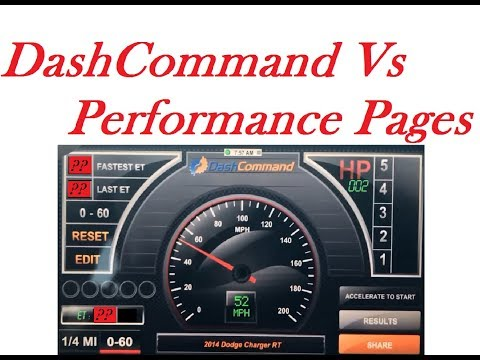 Performance Pages 0-60 Vs. DashCommand App IPhone