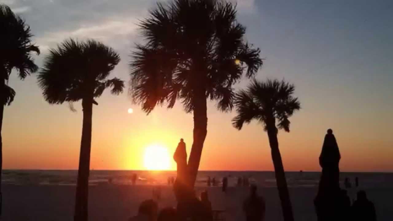 Free Stock Video Florida Beach Sunset HD