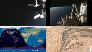 Orbital Sunrise Over Africa - NASA/ESA ISS LIVE Space Station With Map - 31 - 2018-07-19