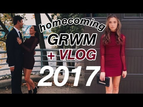 homecoming 2017: get ready with me + vlog | Hannah Meloche