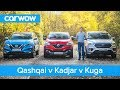 Nissan Qashqai vs Renault Kadjar vs Ford Kuga 2019 – See which is the best mid-size SUV
