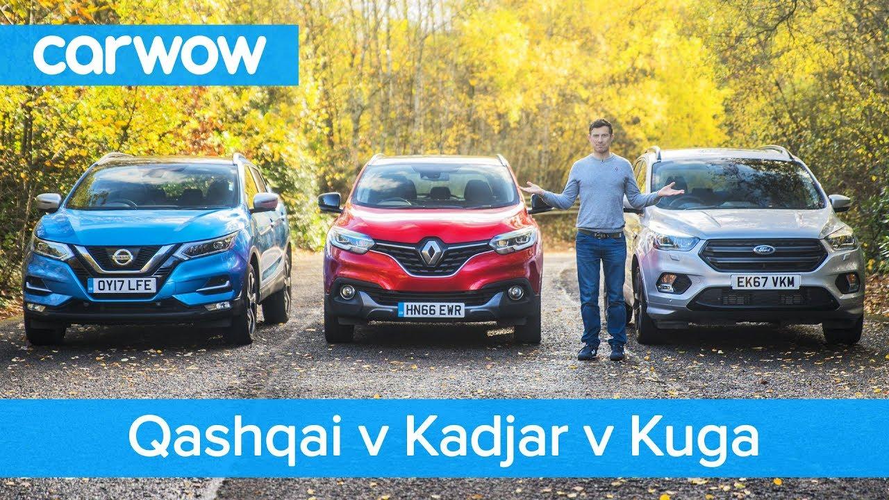 Nissan Qashqai Vs Renault Kadjar Vs Ford Kuga 2019 See Which Is The Best Mid Size Suv