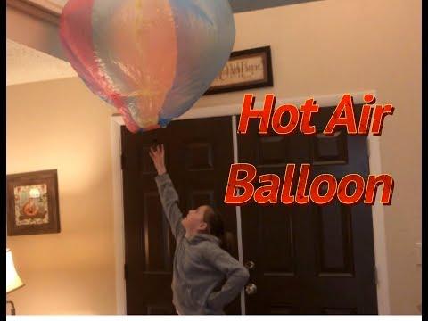 Hair Dryer Hot Air Balloon Experiment (Diy hot air balloon/how to make hot air paper balloon)