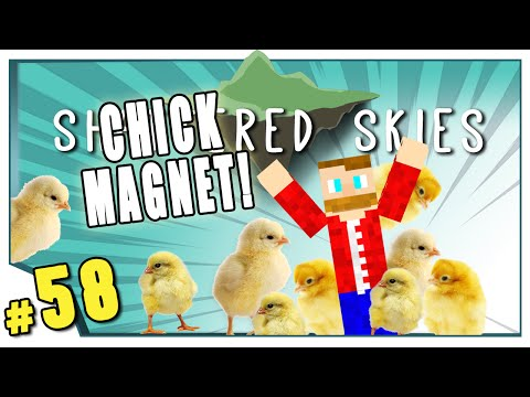 Minecraft: Shattered Skies - #58 - Chick Magnet!  (FTB Skyblock)
