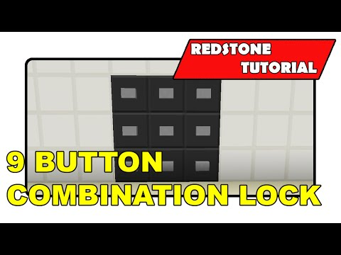 "9 Button Combination Lock [Unlimited] ""Redstone Tutorial"" (Minecraft Xbox/PlayStation/PS Vita)"