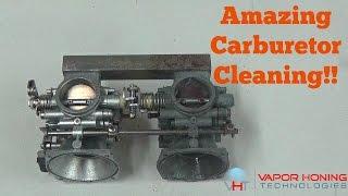 Vapor Blasting Vintage Motorcycle Carburetors- Vapor Honing Technologies
