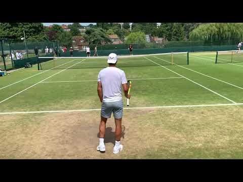 2019 Wimbledon Nadal Court Level Practice