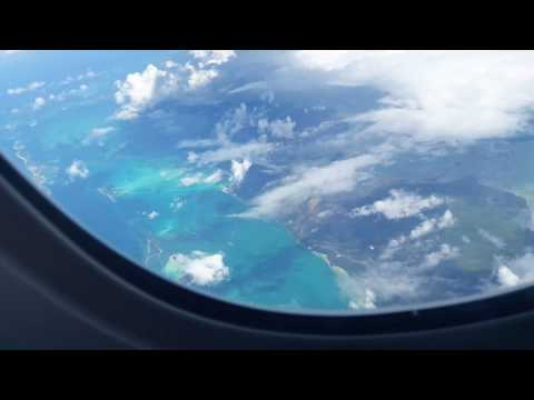 Plane Window View of the Atlantic Ocean
