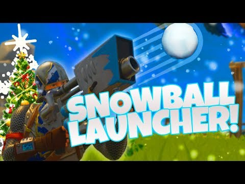 LEGENDARY SNOWBALL LAUNCHER! - Fortnite BR Winter Update Gam