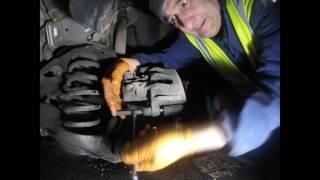replacing Volvo rear brake pads / Замена задних тормозных колодок Volvo