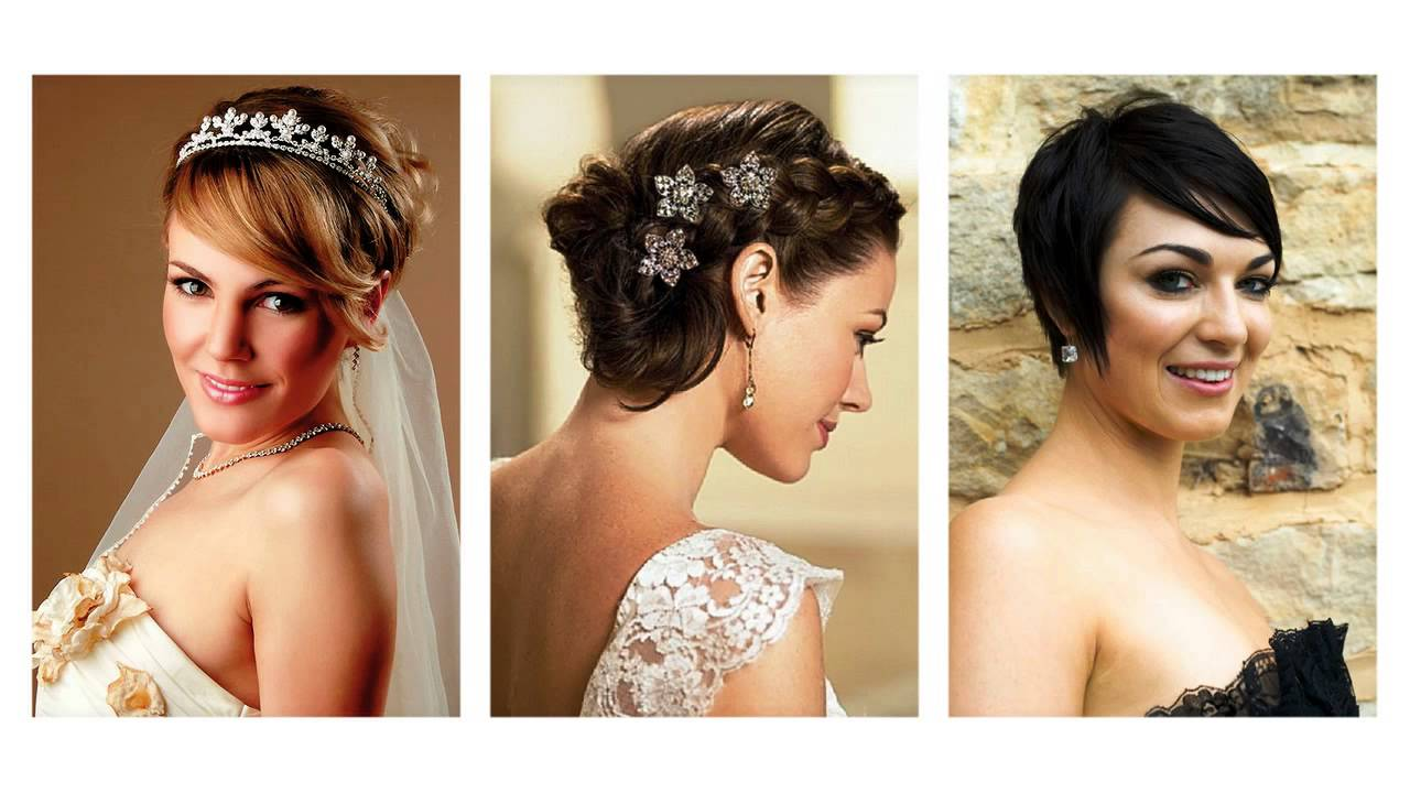 Famoso Acconciature sposa capelli corti - YouTube OU35