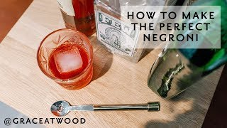 Cocktail Recipe: How to Make The Perfect Negroni.