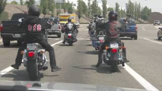 Gang of Bikers run off SUV in OC, California near Cook