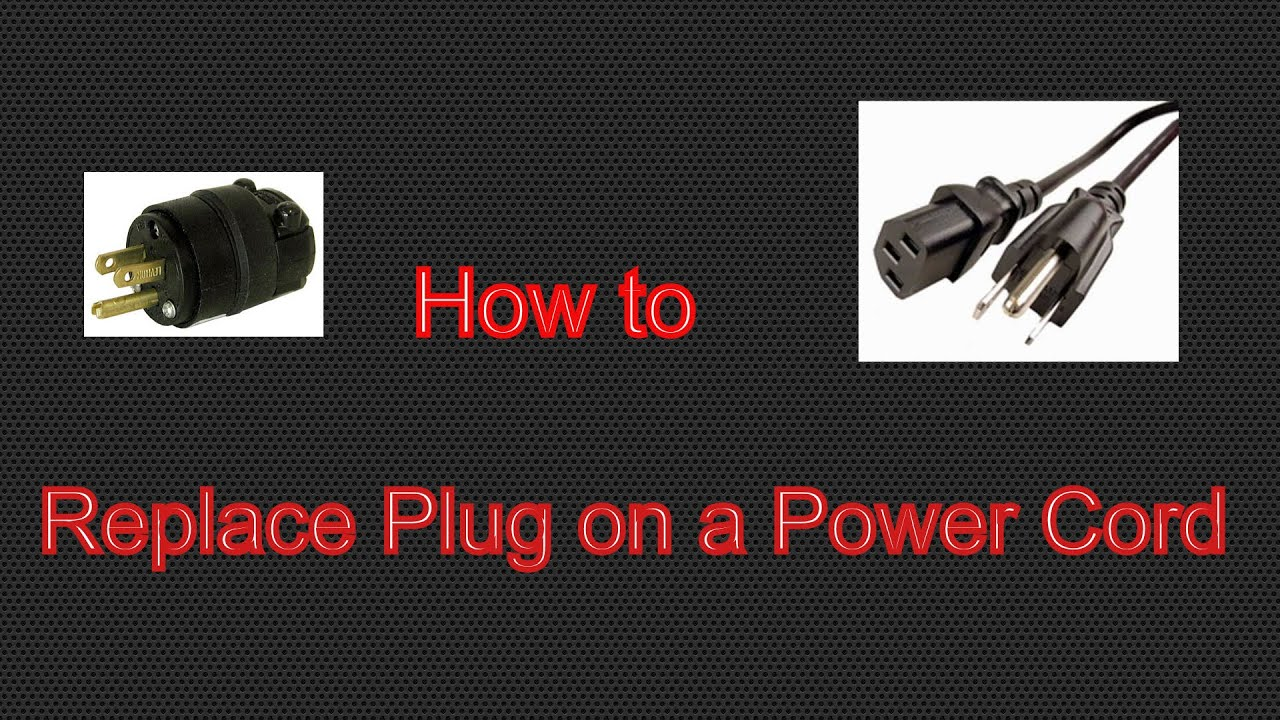 How To Replace 3 Prong Plug On A Power Cord Youtube Extension Wire Diagram