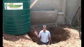 Biogas digester - Installation & Back-filling - The Little Green Monster - Wally Weber