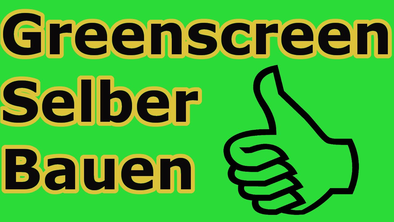 greenscreen zum selber bauen tutorial in nur 3. Black Bedroom Furniture Sets. Home Design Ideas