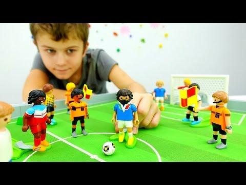 Игры ФУТБОЛ! Настольные игры для мальчиков. Распаковка конструктора Playmobil Видео с игрушками