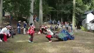 輪島市三井町 大幡郷社祭(小泉漆原の獅子舞) 20150503(日)