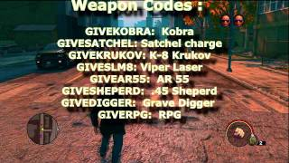 Saints Row 3 :All Cheat Codes XBOX360/PS3