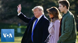 Trump, First Lady Depart for Mar-A-Lago