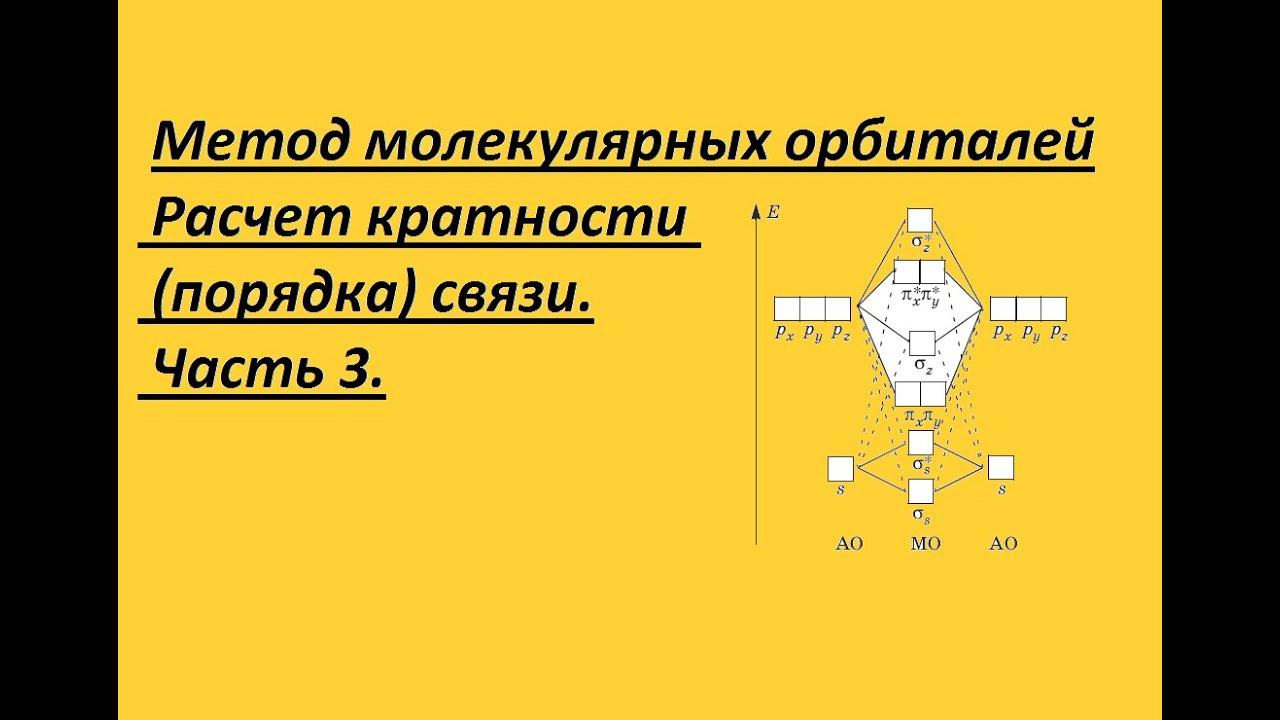 Метод молекулярных орбиталей. Часть 3. Расчет порядка (кратности) связи.