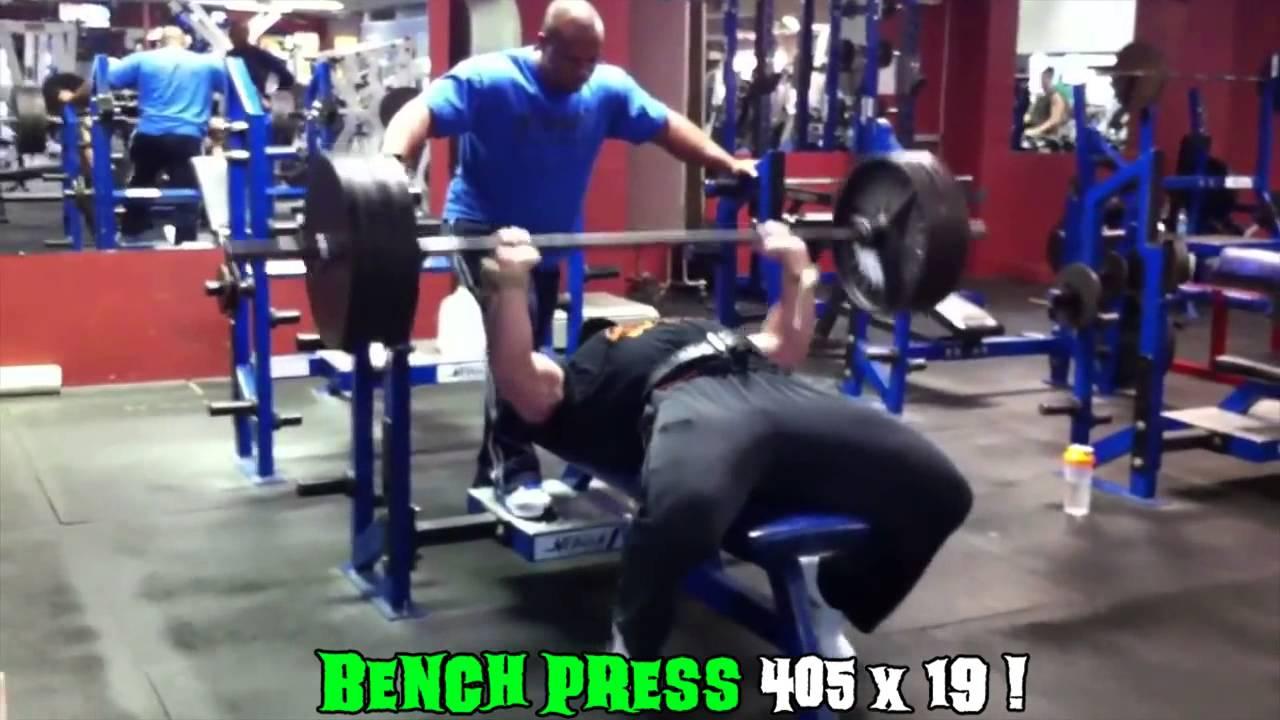 Worlds strongest bodybuilder anabolicoutlaws bench press