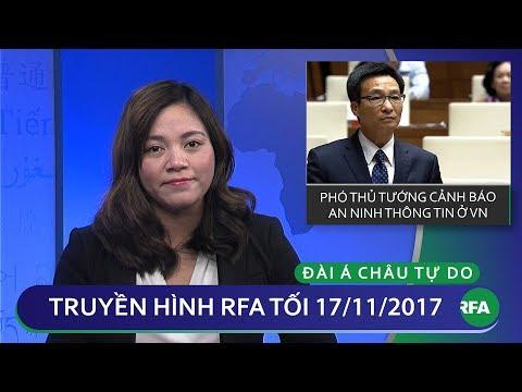 Thời sự tối 17/11/2017 | Việt Nam yêu cầu Youtube gỡ bỏ 5,000 clip có nội dung xấu | © Official RFA