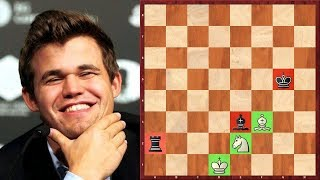 Шахматы. Магнус Карлсен - НАСТОЯЩИЙ ВОЛШЕБНИК шахматных окончаний!