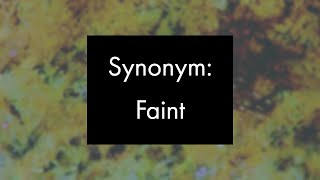 Synonym: Faint, Experimental Video Art and Music by Collin Thomas