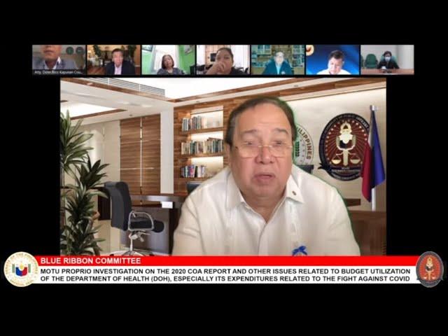 Senate Blue Ribbon Committee (October 19, 2021)