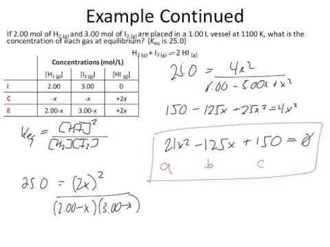 Quadratic Equation Ice Table Equilibrium Calculations